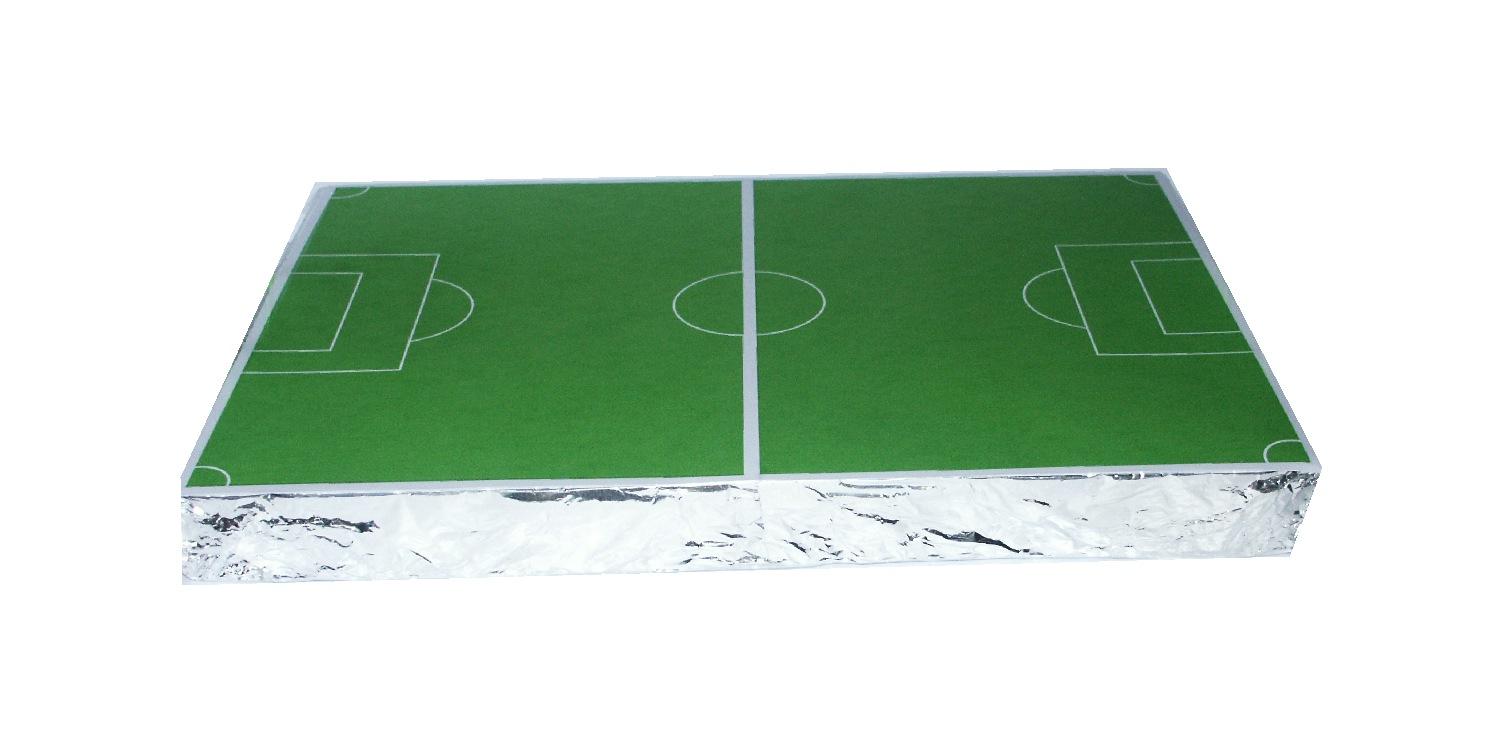 Voetbalveld met voetbal prikkers