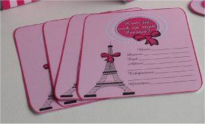 Uitnodigingskaartjes Parijs