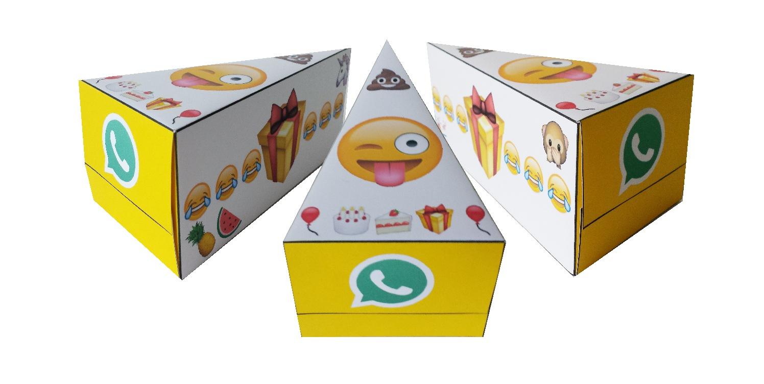 Whatsapp emoji traktatie taart