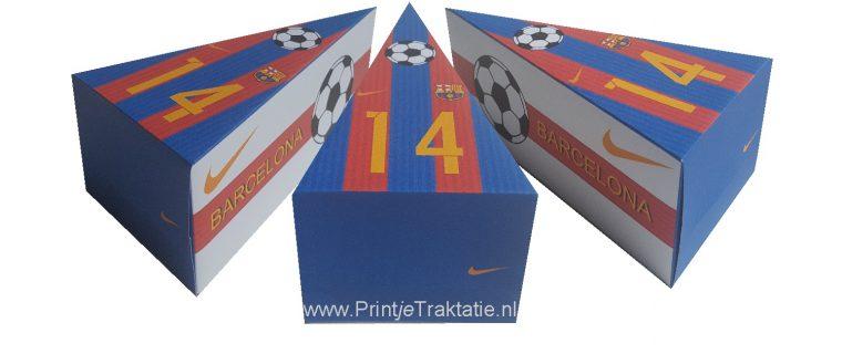 Voetbal Barcelona taartpunt