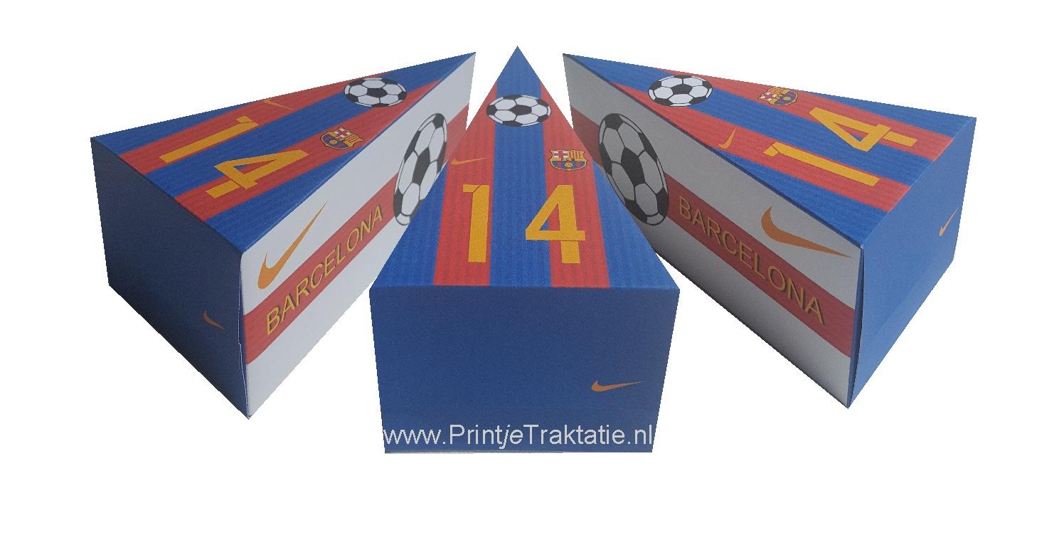 Voetbal Barcelona traktatie taartpunt