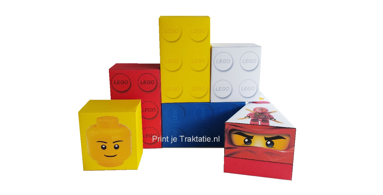Lego traktatie doosjes