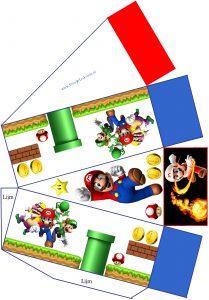 Super Mario taartpunt patroon