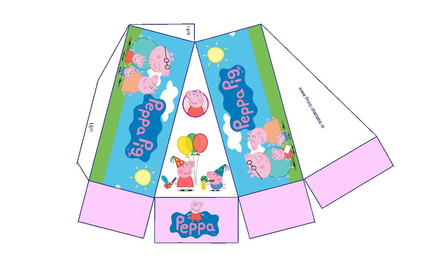 Peppa Pig taartpunt patroon