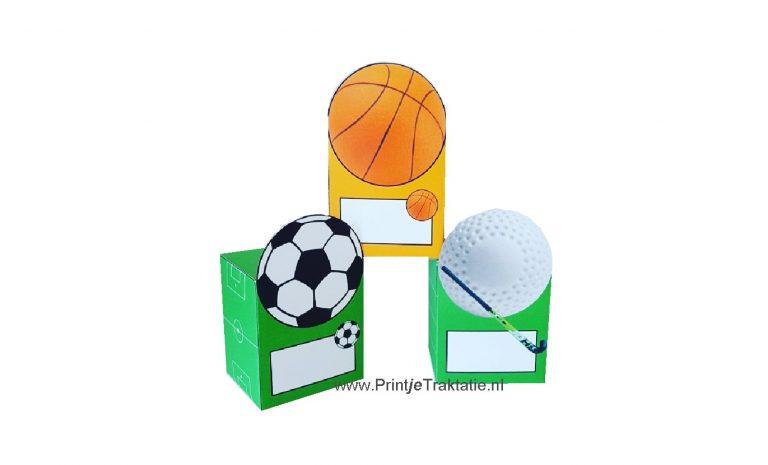 Sport traktatie doosjes