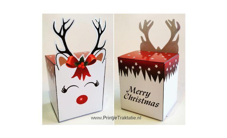 Rendier kerst doosje