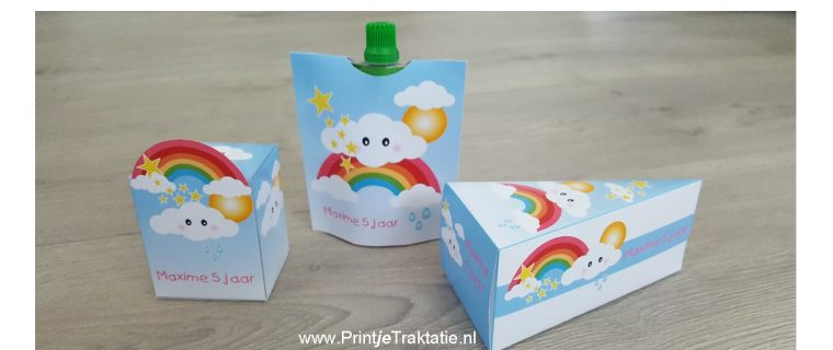 Wolkje met regenboog traktaties